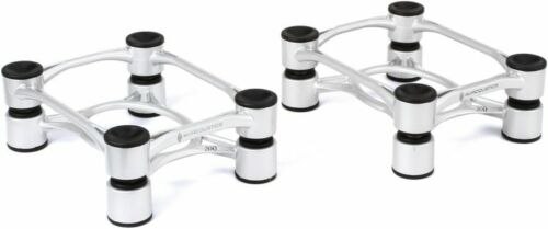 IsoAcoustics Aperta 200 Speaker Isolation Stands (Pair), Silver