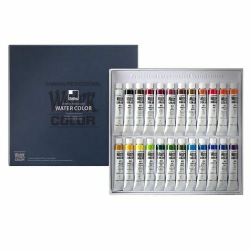 Shinhan Professional Artist Drawing Watercolor Paint Set 24 Colors Supplies