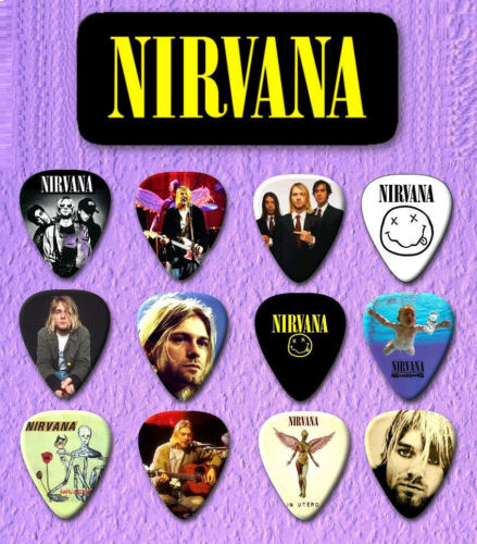 NIRVANA   Guitar Pick Tin Includes a Set of 12 Guitar Picks