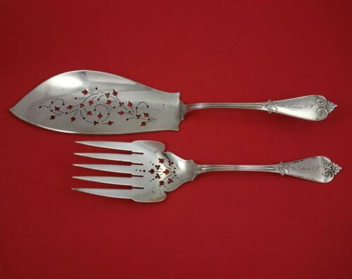 Beekman by Tiffany and Co Sterling Silver Fish Serving Set 2pc Pierced Original