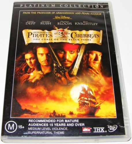 PIRATES OF THE CARIBBEAN--The Curse Of The Black Pearl---(Dvd 2 Disc Set)