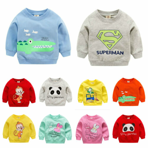 afdd205f2 1pc baby girls boys clothes cotton tops pullover outerwear baby sweater Tee