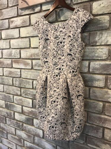 BNWT River Island Jacquard Fabric Woven Pattern Dress Formal Party UK AU SIZE 8