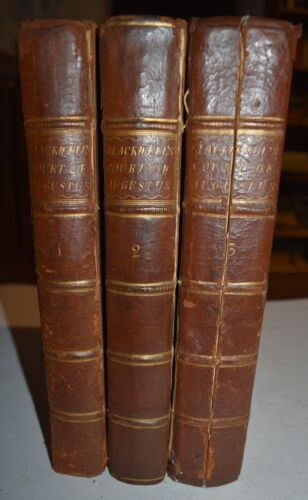 AUGUSTUS - fig. 1760 - 3 VOLUMI IN 4° - 25 TAVOLE - STORIA - Blackwell  - RARO