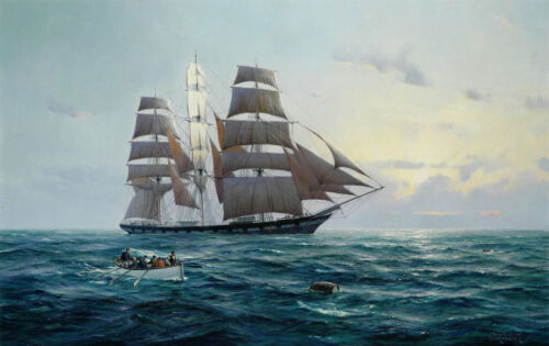 Best gift Art Wall Home Decor print Oil painting Seascape Ship Sailing on canvas