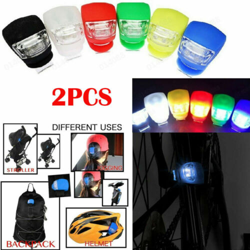 2 LED SILICONE MOUNTAIN BIKE BICYCLE FRONT REAR LIGHTS SET PUSH CYCLE LIGHT CLIP <br/> IRISH SELLER✓IRISH STOCK✓SAME DAY DISPATCH✓HIGH QUALITY