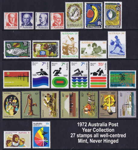 Australian Post Year Collection 1972 (27 stamps) MNH SET B