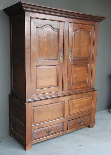 Rare antique 18th century Georgian wardrobe original provincial armoire tallboy