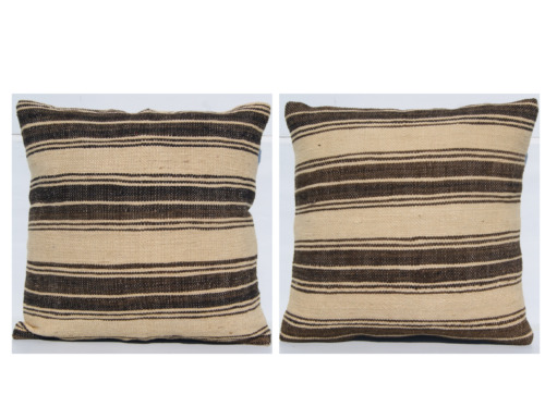 """HOME DESIGN TURKISH KILIM PILLOW COVERS 16""""X16"""" SQUARE WOOL HAND WOVEN AREA RUGS"""