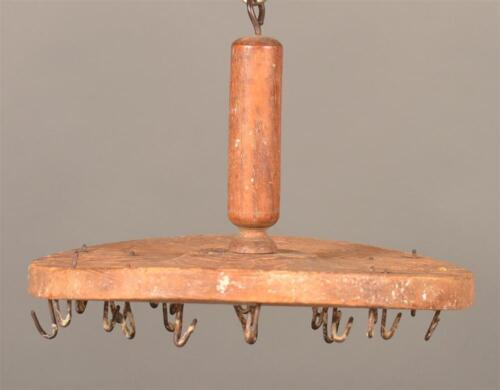 Antique Primitive Pennsylvania Wood And Wire Candle Dipper Dryer