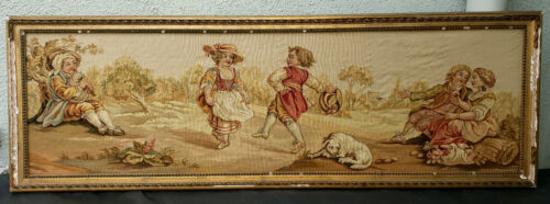 An Horizontal Shaped Silk Aubusson Tapestry