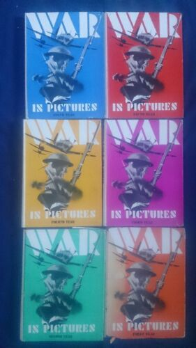 Bulk Lot Vintage Set THE WAR IN PICTURES First Second Third Fourth Fifth Sixth