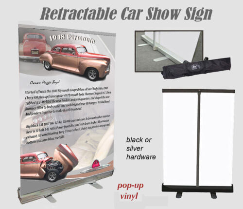 Car Show or Auction Display w/Tote Bag YOUR CAR