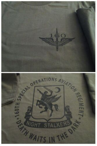 160th NIGHT STALKERS SOAR Spec OPS Aviation T-Shirt Ultra Cotton XLOther Militaria - 135