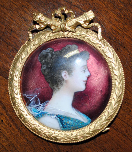 French Limoge Art - Napoleon Joséphine  Brass Frame Copper backed