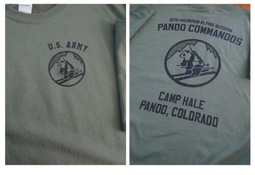 10TH MOUNTAIN Alpine PANDA COMMANDOS Camp Hale T-Shirt LARGE ArmyOther Militaria - 135