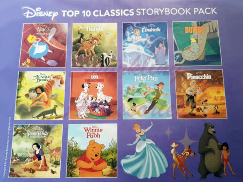 NEW Disney Top 10 Favourites Storybook 10 Books Pack Children's Classic Gift Set