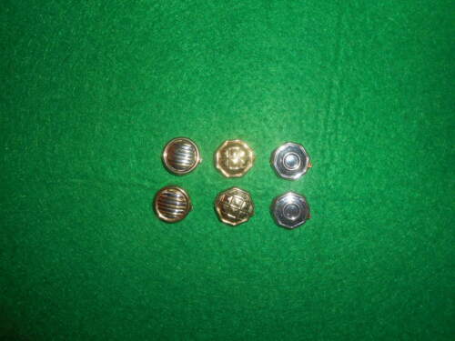 Lot of 3pairs buttons in silver  marked