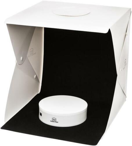 """11"""" Dual LED Light Photo Studio Photography Tent Kit with 360 Round Turntable"""