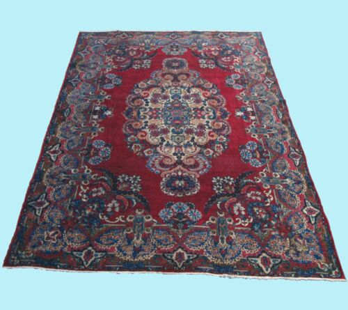 HOME LIVING PERSIAN CARPET RUG MULTI COLORED RECTANGLE WOOL 40+ AREA RUG 7X10ft.
