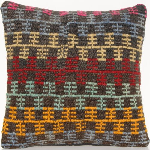 """16""""x16"""" RUG PILLOW CASE TURKISH WOOL SQUARE EMBROIDERED HAND WOVEN AREA RUG 30+"""