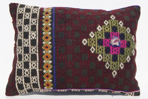 """20""""x14"""" KILIM RUG PILLOW CASE TURKISH WOOL RECTANGLE EMBROIDERED KILIM AREA RUGS"""