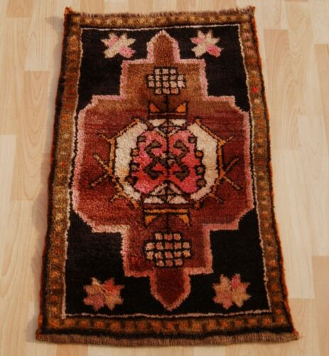 HOME DECORATIVE TURKISH HANDKNOTTED CARPET RECTANGLE BROWN WOOL 30+ AREA RUG 2X3
