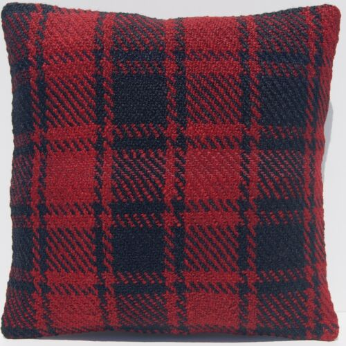 """12""""X12"""" SOFT PILLOW CASE WOOL SQUARE KURDISH HAND WOVEN KELIM RED AREA RUGS 30+"""