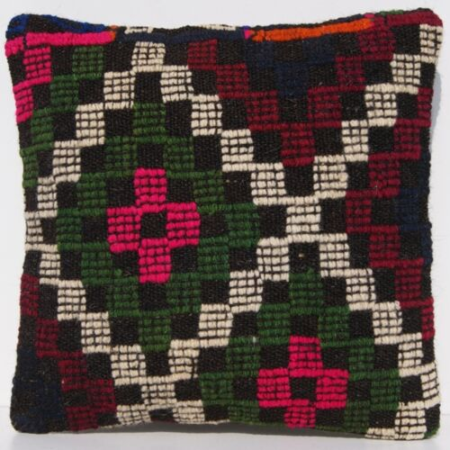 """14""""X14"""" HOME LIVING TURKISH PILLOW COVER SQUARE GREEN STRIPED AREA RUGS 20+"""