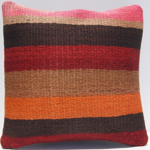 """18""""X18"""" ROOM DECOR PILLOW TURKISH COVER SQUARE WOOL MULTI COLORED AREA RUGS 30+"""