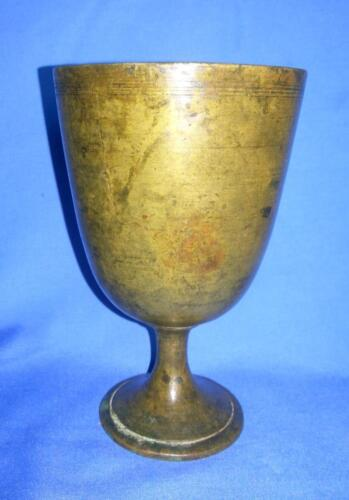 Antique Collectible Brass Hand Carved Beautiful Whisky Drink Glass Pot India