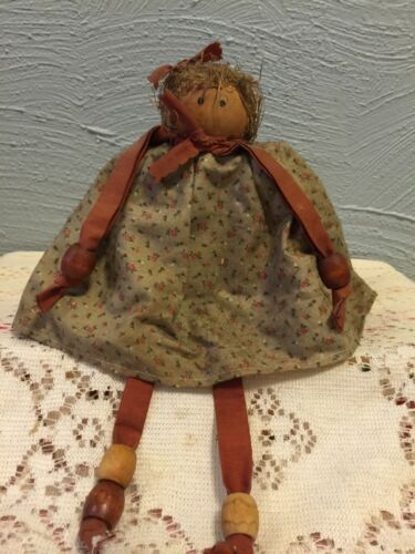 Rustic country primitive block doll