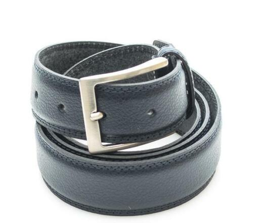 cintura uomo Timberland classic double solid color stitched leather belt h NAVY