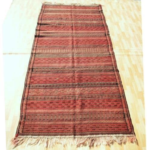 AZTEC RUG PERSIAN KILIM RUG HAND WOVEN RED RECTANGLE WOOL 30+ AREA RUG 5X12ft
