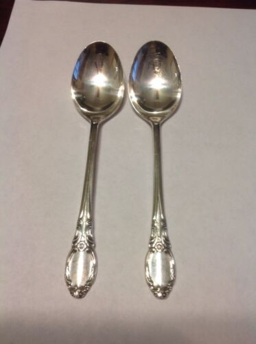Rogers Oneida Chatelaine-Park Lane-Dowry Oval Soup Spoon Lot Of 2 Silverplate