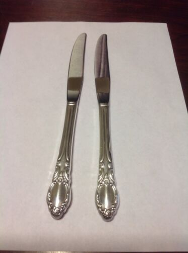 Rogers Oneida Chatelaine-Park Lane-Dowry Dinner Knife Lot Of 2 Silverplate 1957