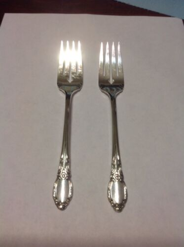 Rogers Oneida Chatelaine-Park Lane-Dowry Salad Fork Lot Of 2 Silverplate 1957