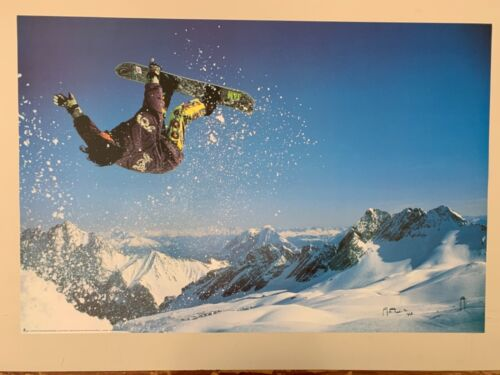 SNOWBOARDING,PHOTO BY FLECKS,AUTHENTIC 1998  POSTER