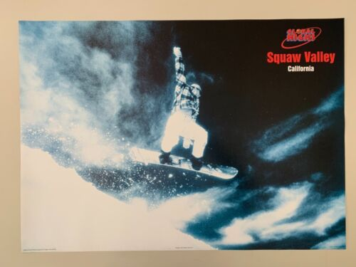 SNOWBOARDING, SQUAW VALLEY CALIFORNIA,GLOBAL HIGHS,AUTHENTIC 1995 POSTER