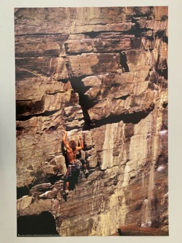 ROCK CLIMBING , PHOTO BY D. SANDERS,AUTHENTIC 1998 POSTER