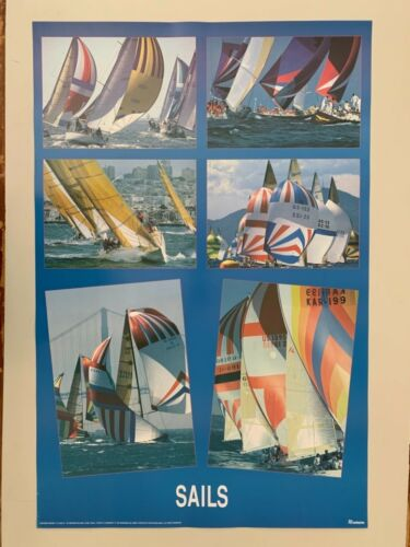 SAILING, RACE, AUTHENTIC 1994 POSTER