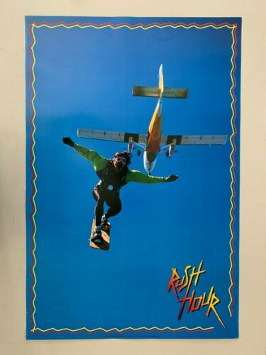 SKYDIVING WITH SNOWBOARD,RUSH HOUR,AUTHENTIC 1995  POSTER