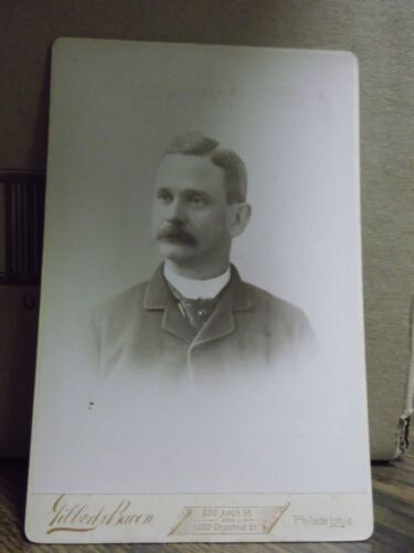 1890's Cabinet Card Photograph - Man with Mustache-120-J36