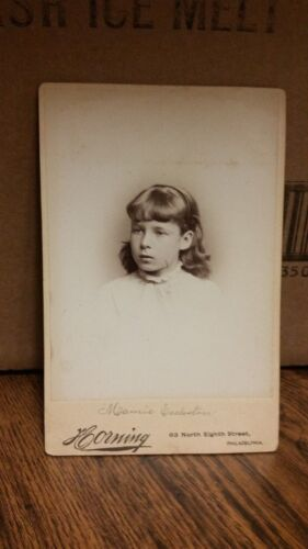 1890's Cabinet Card Photograph - Young Girl with Headband On-125-J36