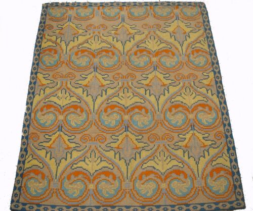 A Beautiful European Rug with Heart Shaped Arabesques