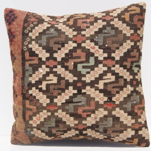 """20""""x20"""" Persian old kilim pillow covers Hand woven vintage kelim area rugs 40+"""
