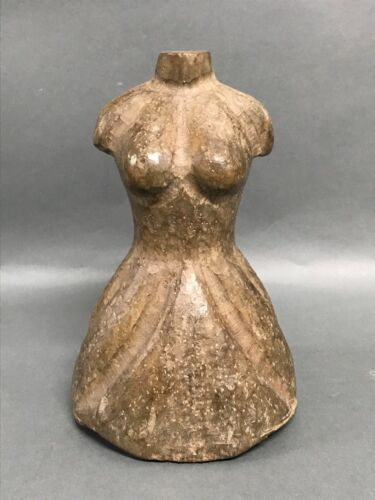 CARVED WOOD DRESS FORM PAPER MACHE MOLD/SCULPTURE