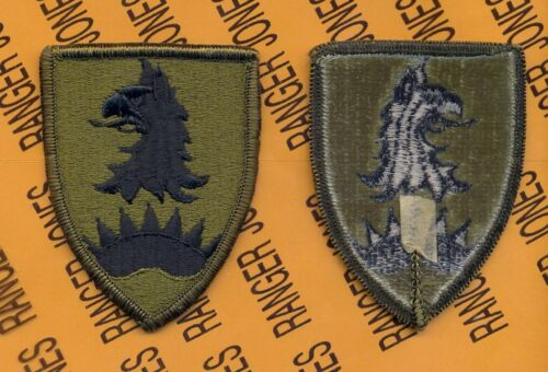 US ARMY 168th MILITARY POLICE BATTALION MP crest DUI badge c//b G-23
