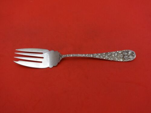 "Baltimore Rose by Schofield Sterling Silver Cold Meat Fork 7 5/8"" Serving"