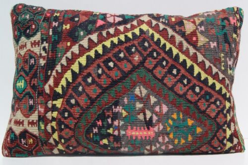"""Summer and quote pillow case 24""""x16"""" Kurdish Herkhi pillow covers kelim area rug"""